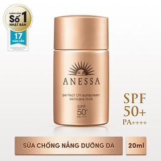 Sữa chống nắng bảo vệ hoàn hảo Anessa Perfect UV SPF 50+, PA++++ 20ml - 4901872073719 thumbnail
