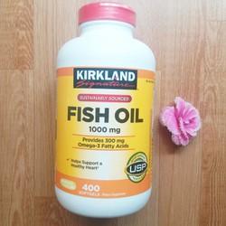 DẦU CÁ KIRKLAND FISH OIL 1000MG 400VIÊN NHẬP KHẨU TỪ MỸ