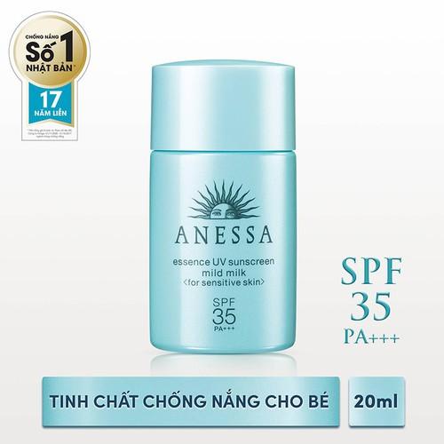 Tinh chất chống nắng dịu nhẹ cho da nhạy cảm và trẻ em Anessa 20ml