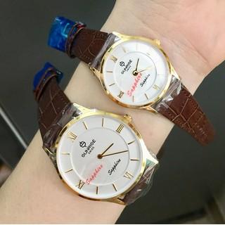 Đồng hồ đôi sunrise SDM736 dây da siêu mỏng - Kính sapphire - SDM736 thumbnail