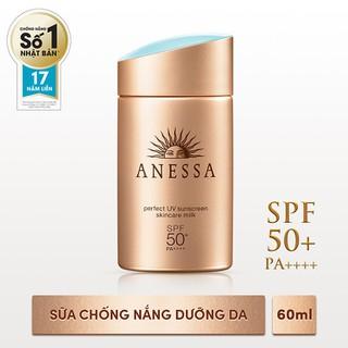 Sữa chống nắng bảo vệ hoàn hảo Anessa Perfect UV SPF 50+, PA++++ 60ml - 4901872073696 thumbnail