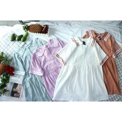Đầm Babydoll thủy thủ viền sọc