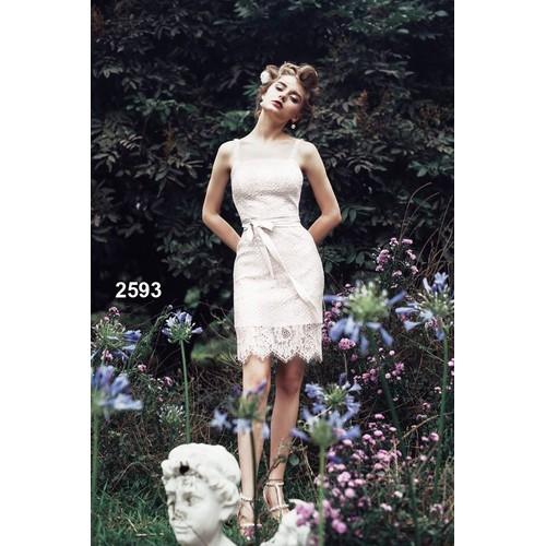 Đầm body ren trắng 2593