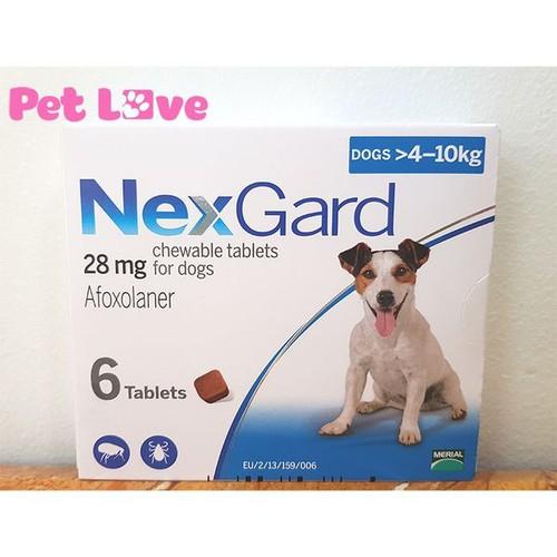 1 hộp 6 viên NexGard trị ghẻ, viêm da, ve rận cho chó từ 4-10kg - 7870555 , 10917601 , 15_10917601 , 611000 , 1-hop-6-vien-NexGard-tri-ghe-viem-da-ve-ran-cho-cho-tu-4-10kg-15_10917601 , sendo.vn , 1 hộp 6 viên NexGard trị ghẻ, viêm da, ve rận cho chó từ 4-10kg