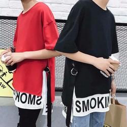 Áo thun Unisex form rộng tay lỡ Smoking