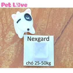1 viên thuốc NexGard trị ghẻ, viêm da, ve rận cho chó từ 25 - 50kg