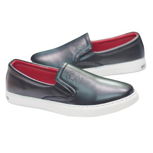 Giày Nam Đẹp Giá Rẻ - Giày Slip On Nam Aroti Đế Khâu Chắc Chắn Phong Cách Đơn Giản Màu Đen - M498-DEN-L