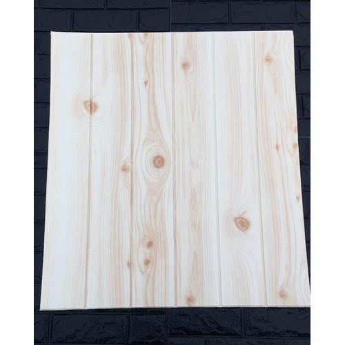 Xốp dán tường giả gỗ trắng