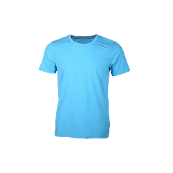 Áo thun cổ tròn Novelty màu xanh blue