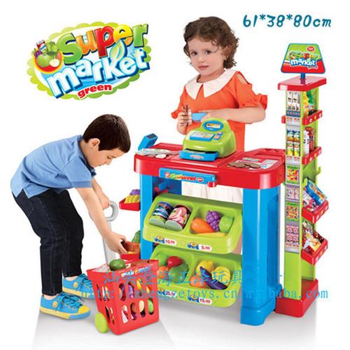 Bộ đồ chơi siêu thị mini với đầy đủ các trang thiết bị siêu thị