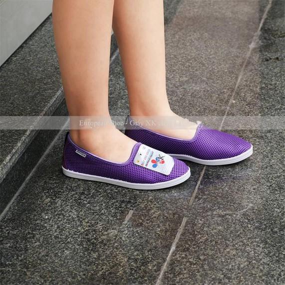 Giày lười  giày mọi  slip on nữ màu đen 2