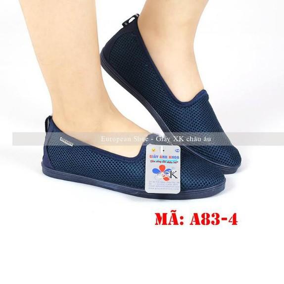 Giày lười  giày mọi  slip on nữ màu đen 3