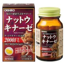 Viên uống Chống Đột Qụy NattoKinase Orihiro Nhật Bản 60 viên
