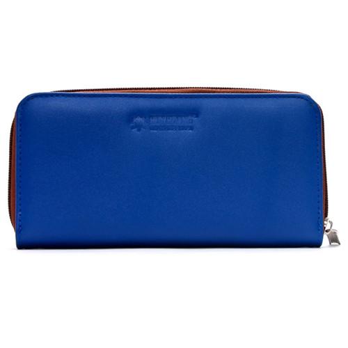 Bóp nữ da bò Huy Hoàng 1 khóa màu xanh dương EH3147