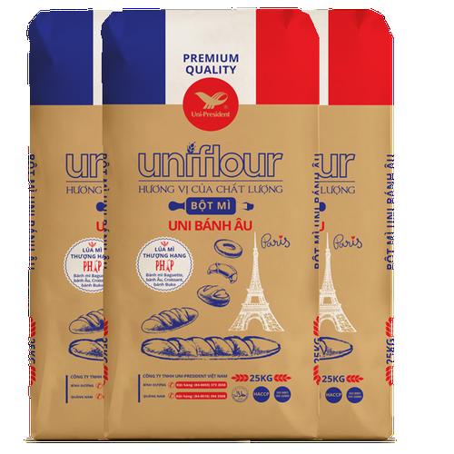 bột mì  bánh Âu Uniflour 25kg