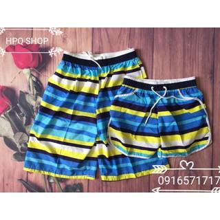 Combo 2 quần đôi đi biển dã ngoại xinh xắn - Combo 2 q sọc xanh thumbnail