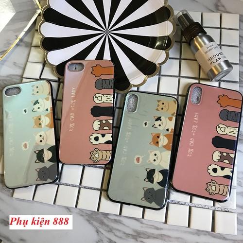 Ốp lưng silicon bóng Iphone 6, 6S, 7, 7P, 8P, X chú mèo cute