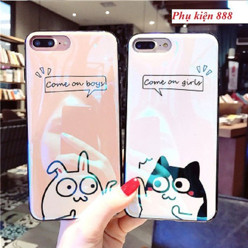 Ốp lưng silicon bóng Iphone 6, 6S, 7, 7P, 8P, X COME ON GIRL