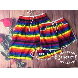 Combo 2 quần đôi đi biển dã ngoại xinh xắn - combo2q 7 màu tươi thumbnail