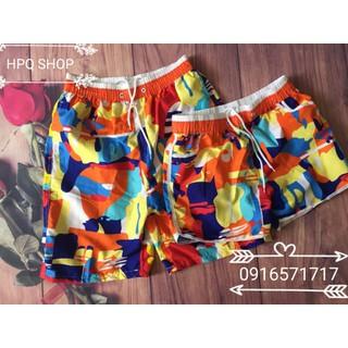 Combo 2 quần đôi đi biển dã ngoại xinh xắn - Combo 2q đa sắc cam thumbnail