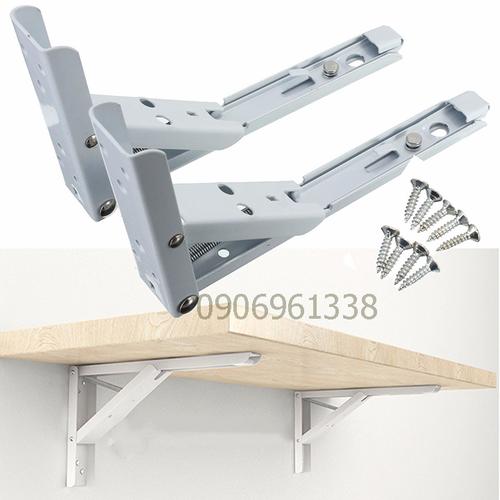 Bộ 2 bản lề gập thông minh 35cm cho bàn treo tường tải trọng 40kg