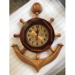 Đồng hồ mỏ neo gỗ cẩm tự nhiên size 50cm