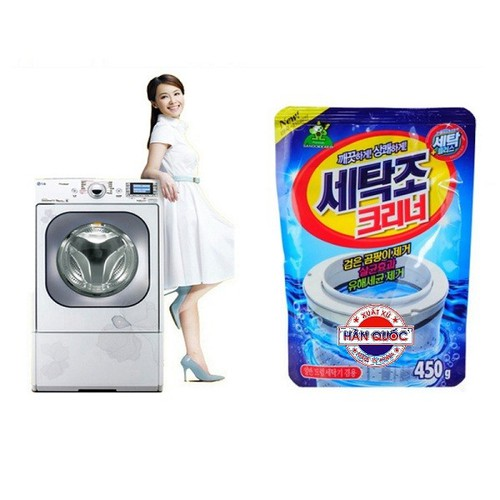 Tẩy lồng máy giặt - Bột tẩy vệ sinh máy giặt