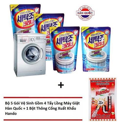 Combo 5 bịch vệ sinh máy giặt + bột thông cống - 10780513 , 11134765 , 15_11134765 , 159000 , Combo-5-bich-ve-sinh-may-giat-bot-thong-cong-15_11134765 , sendo.vn , Combo 5 bịch vệ sinh máy giặt + bột thông cống