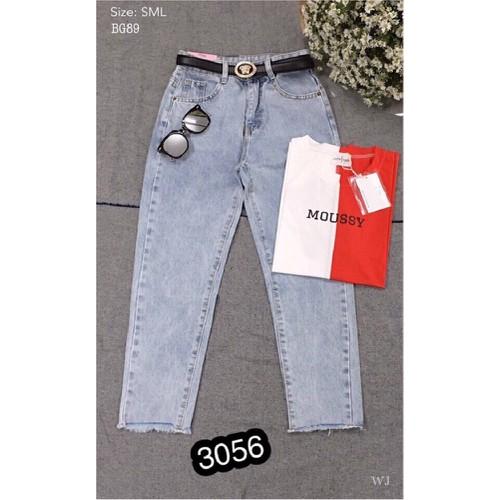 ⚡️[CỰC HOT] Quần Baggy Jeans Nữ Phối Rách Thời Trang OHS3056