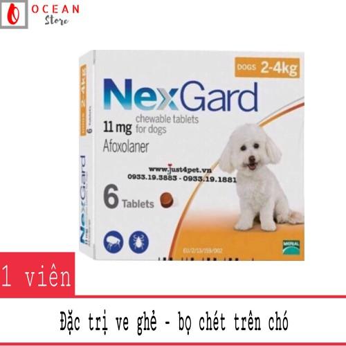 Thuốc trị ve ghẻ, bọ chét trên chó - 1 viên Nexgard cho chó 2-4kg