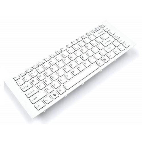 Bàn Phím Laptop Sony Vaio VPCEG, VPC-EG, PCG-61911L Trắng Có Khung