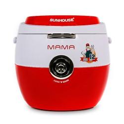 Nồi cơm điện 1.8 lít SUNHOUSE Mama SHD8661 đỏ trắng - DNC18SHD8661RW