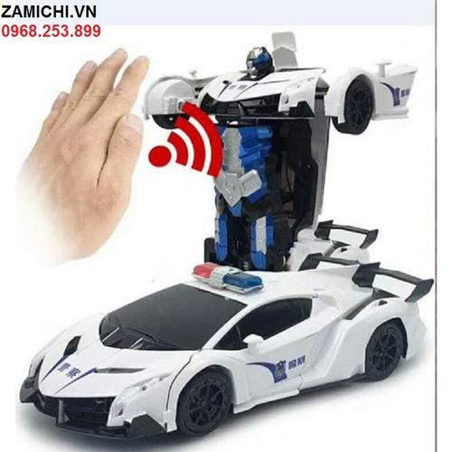 Đồ chơi ô tô biến hình thành robot điều khiển từ xa cảm biến