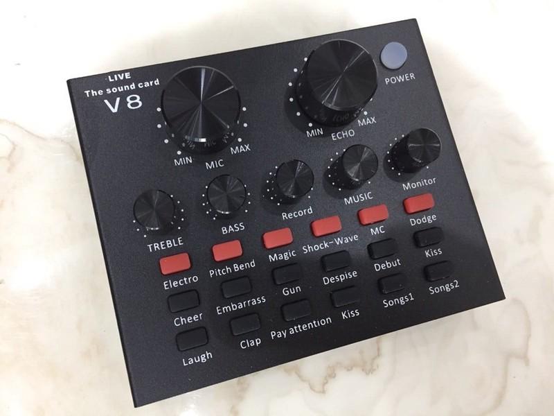 Micro thu âm BM 900 và sound card V8 Tiếng Anh - Việt dễ sử dụng 2