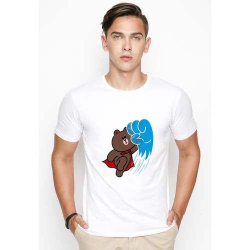 Áo thun nam in hình gấu AokNam456