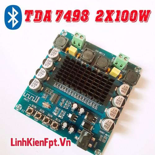 Linh kiện điện tử Mạch Khuếch Đại Âm Thanh Bluetooth TDA 7498  2*100W