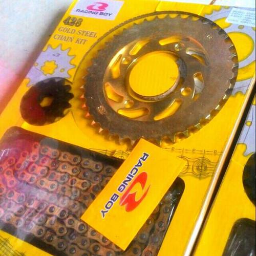 Nhông sên đĩa vàng Racing boy lắp xe ex135 150 sirius wave dr - 10783477 , 11147733 , 15_11147733 , 250000 , Nhong-sen-dia-vang-Racing-boy-lap-xe-ex135-150-sirius-wave-dr-15_11147733 , sendo.vn , Nhông sên đĩa vàng Racing boy lắp xe ex135 150 sirius wave dr