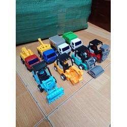 Bộ 8 xe công trình chạy đà size 11x5 cm