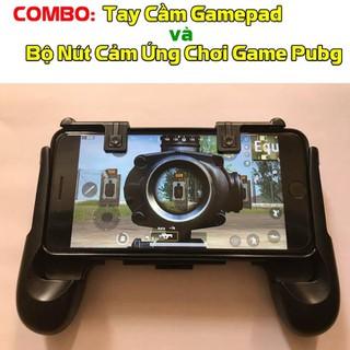 Combo Tay Cầm Gamepad và Bộ Nút Cảm Ứng Chơi Game Pubg - Freeship - GP901 thumbnail