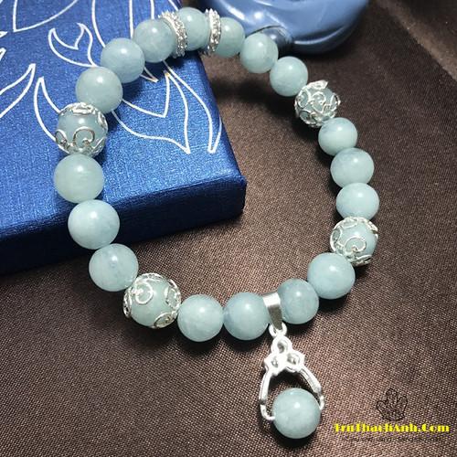 Vòng tay đá Aquamarine ngọc xanh biển charm hợp mệnh Thủy và Mộc - 10785339 , 11155224 , 15_11155224 , 500000 , Vong-tay-da-Aquamarine-ngoc-xanh-bien-charm-hop-menh-Thuy-va-Moc-15_11155224 , sendo.vn , Vòng tay đá Aquamarine ngọc xanh biển charm hợp mệnh Thủy và Mộc