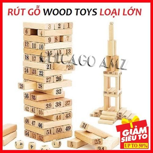 Bộ rút gỗ màu - bộ rút gỗ màu - bộ rút gỗ màu size lớn FEESHIP set 2bộ