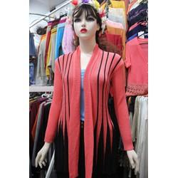 Áo khoác cardigan- đuôi công- phối màu
