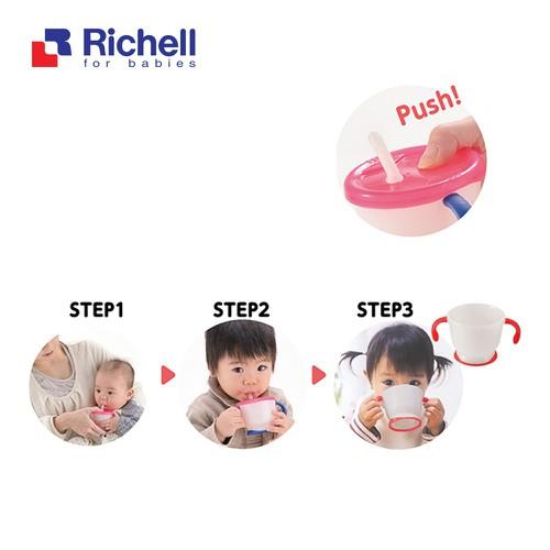Cốc tập uống Richell 3 giai đoạn của Bé thương hiệu Nhật Bản