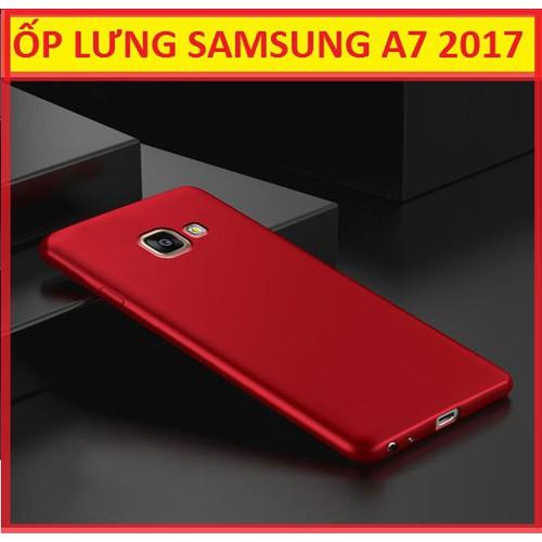 ỐP LƯNG SAMSUNG GALAXY A7 2017 ĐỎ