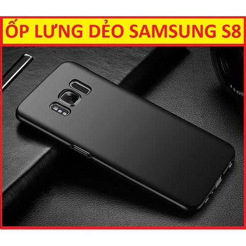 ỐP LƯNG SILICON SAMSUNG S8 DEN
