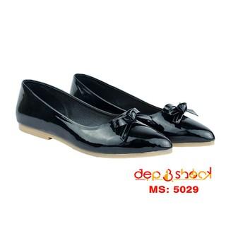 Giày búp bê big size mũi nhọn đính nơ màu đen thương hiệu DEP&SHOCK - 5029 ĐEN BIGSIZE thumbnail