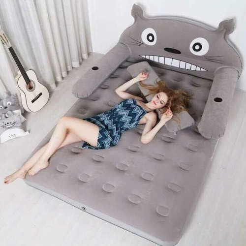 Giường hơi mèo xám 1M2 TẶNG KÈM BƠM ĐIỆN