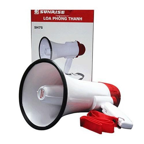 Loa phóng thanh cầm tay mini Sunrise SH7S có THU ÂM và PIN SẠC