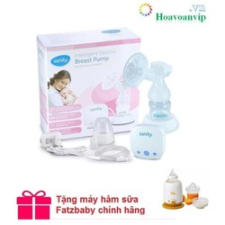 Máy Hút Sữa Điện Đơn Sanity Ap154ae Tặng máy hâm sữa