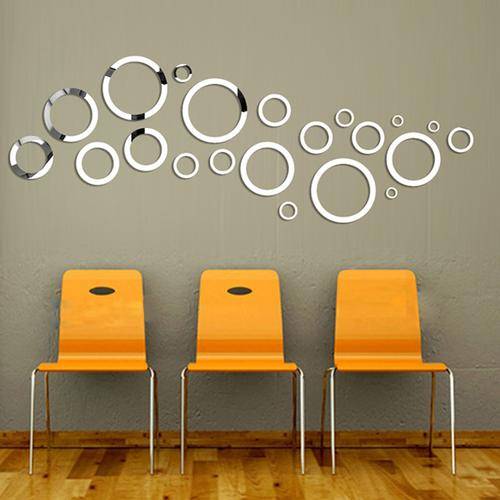 vòng+tròn+tráng+gương+21+cái- vòng trang trí